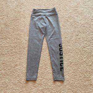 Girls Justice dry fit leggings